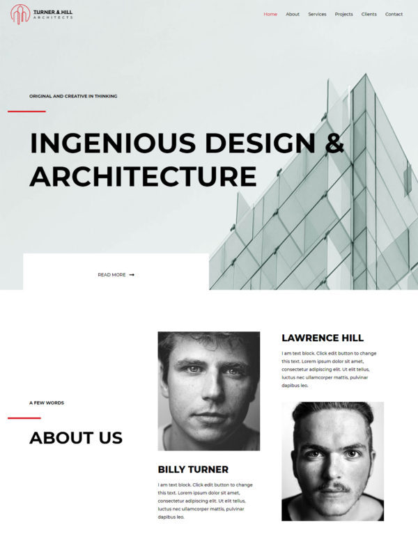 Architects Web Site Template