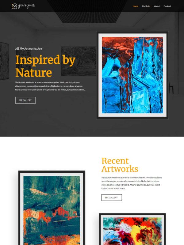 Artist Web Site Template