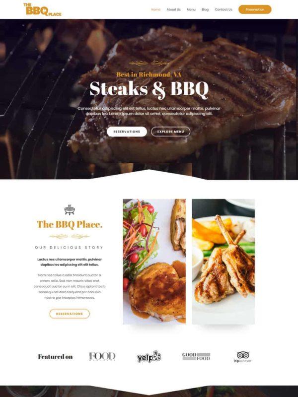 BBQ Restaurant Web Site Template