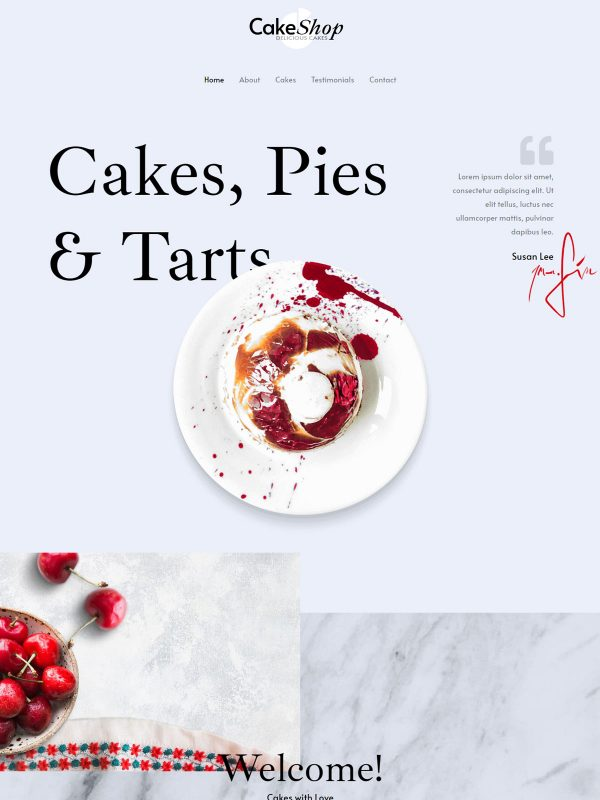 Cake Shop Web Site Template