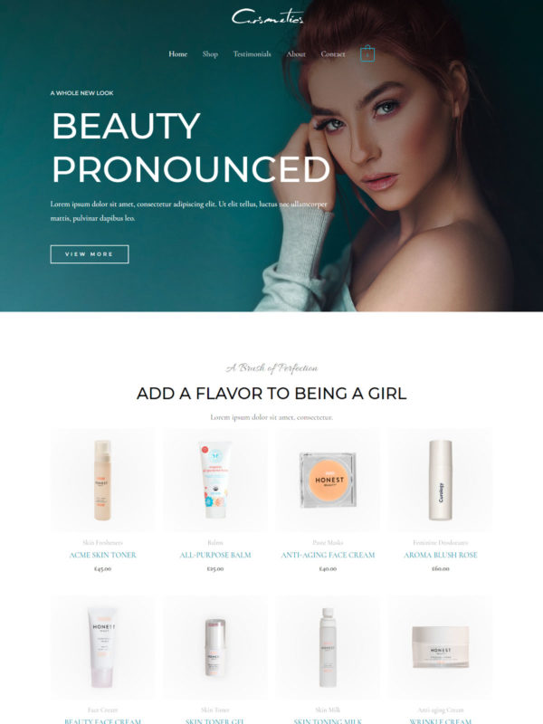 Cosmetics Store Web Site Template