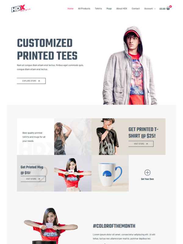 Custom Printing Web Site Template