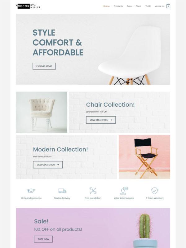 Furniture Store Web Site Template