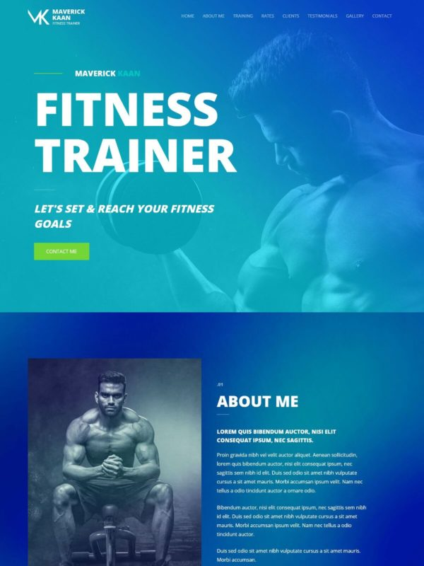 Fitness Trainer Web Site Template