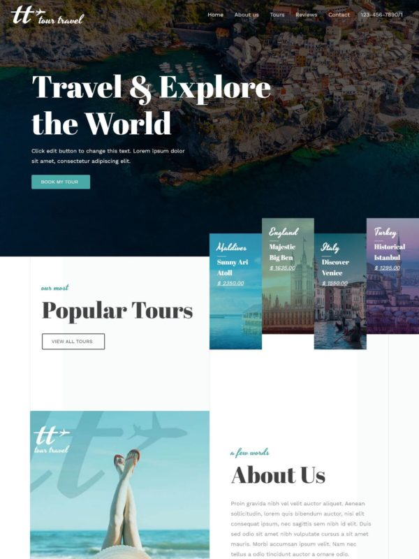 Travel Agency Web Site Template