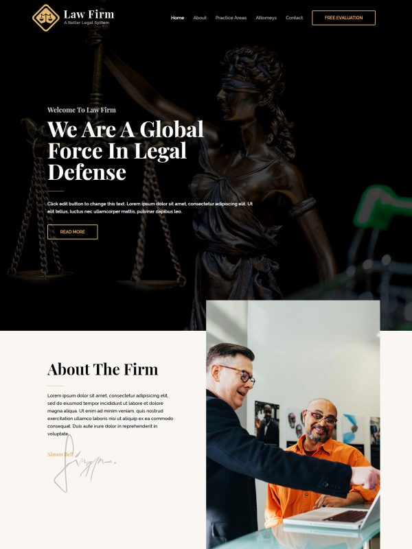 Law Firm Web Site Template