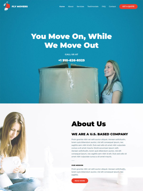 Fly Movers Web Site Template