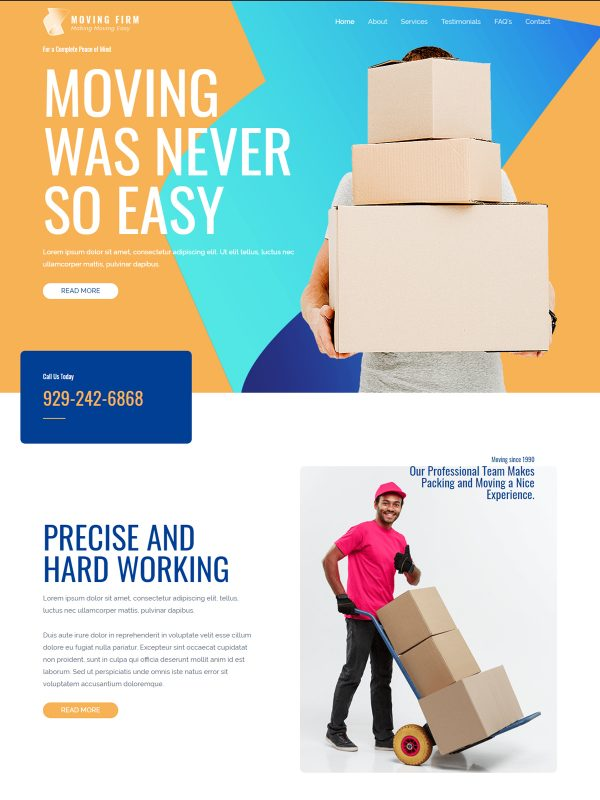 Moving Web Site Template