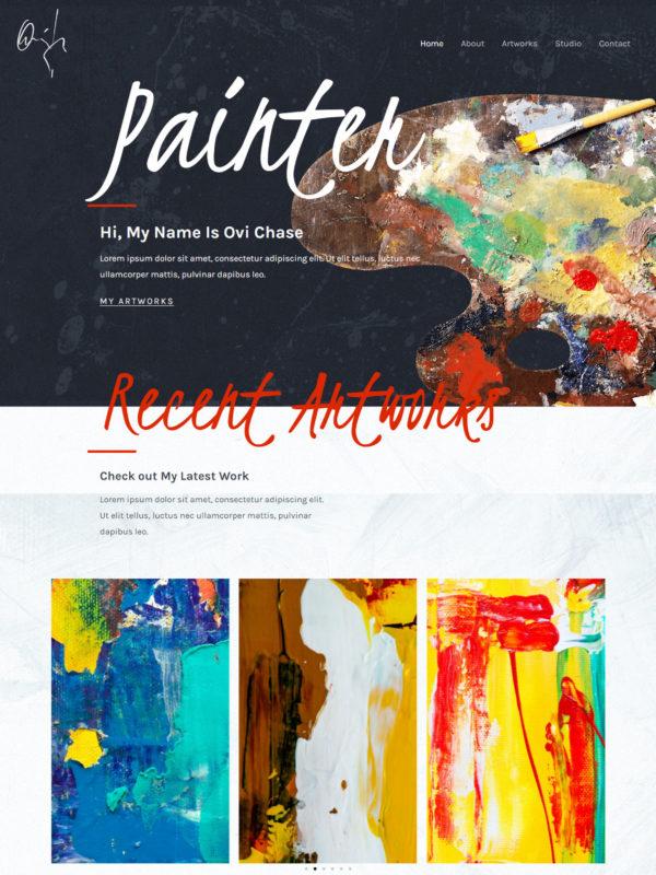 Painter Web Site Template