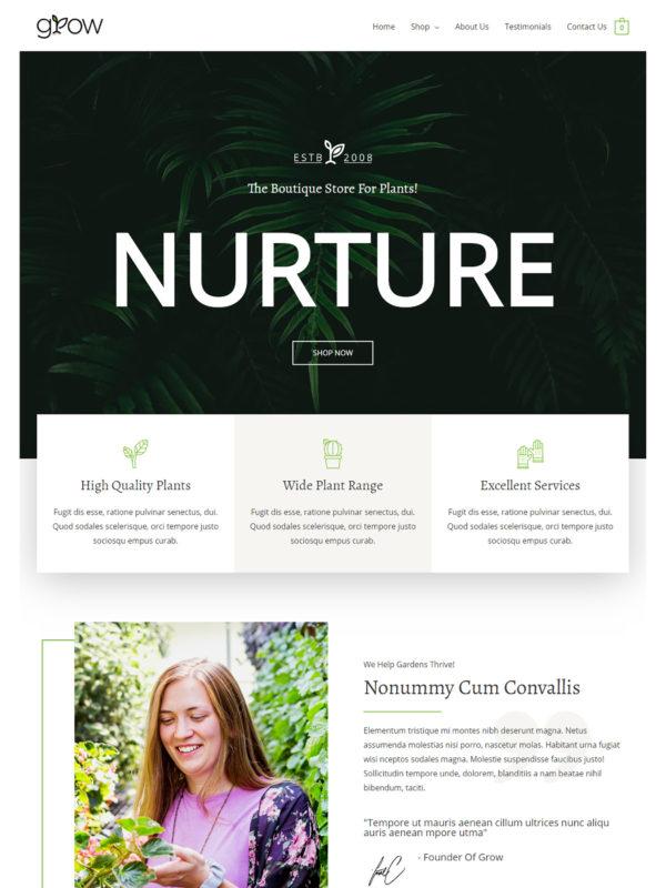 Plant Shop Web Site Template