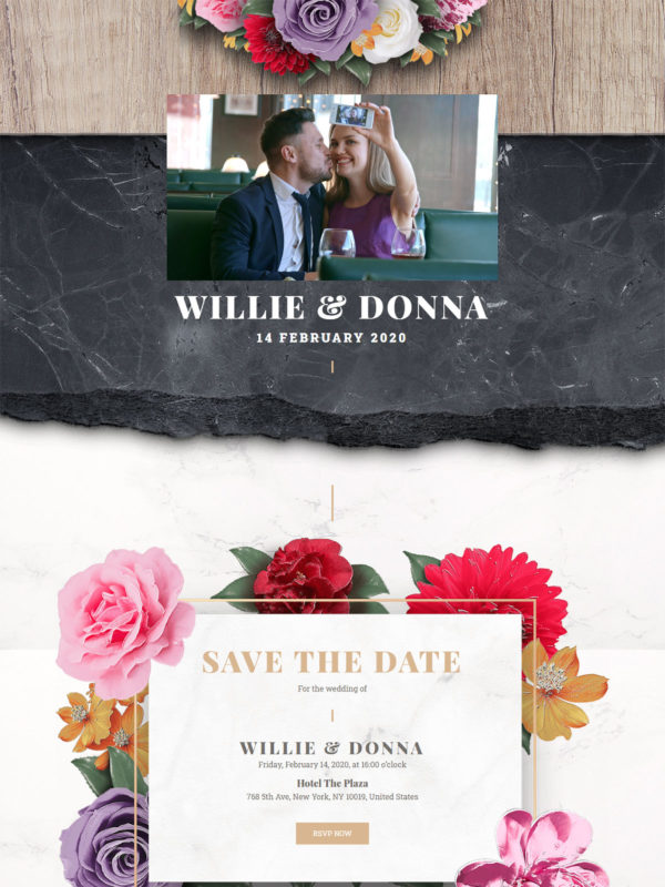 Wedding Invitation Web Site Template