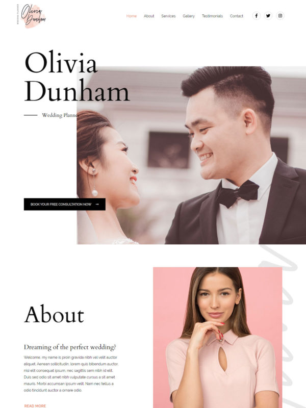 Wedding Organize Web Site Template